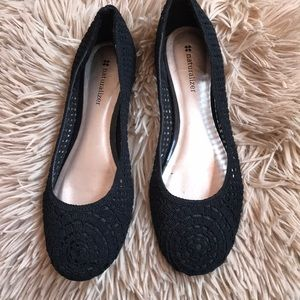 Black Naturalizer Flats